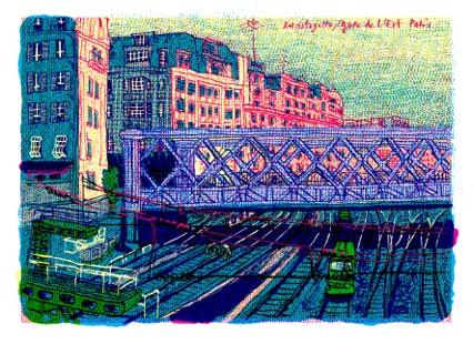 Gare de l'Est, illustration de Martes Bathori